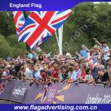 Bandeira 100%, bandeira nacional feita sob encomenda de impressão de cor cheia do poliéster da venda por atacado da fábrica de Inglaterra