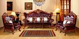 Sofá de la esquina de madera del cuero moderno de la sala de estar (UL-NSC098)
