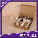 ロゴによって印刷される金のペーパー贅沢なクリーム色のボール紙のギフト用の箱
