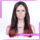 Red Silk Base Cabelo Humano Full Lace Virgin Wigs