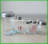 Venta al por mayor de la fábrica botella de cristal del condimento de 80 ml de la especia de la botella del Bbq de la sal de cristal de la pimienta
