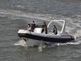 Barco resistente de la cabina del Panga de la fibra de vidrio de Liya Hypalon los 7.5m