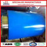 Tôle d'acier bleue enduite d'une première couche de peinture de couleur de l'enroulement PPGI PPGL