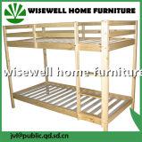2人の子供のための固体マツ木ベッド