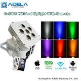 6X12W 6in1 WiFi Irc luz de batería inalámbrica Uplight
