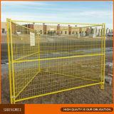 Gelber beweglicher temporärer Aufbau-Zaun für Gebäude