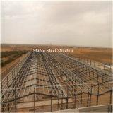 L'Africa ha prefabbricato la costruzione industriale della fabbrica della struttura d'acciaio