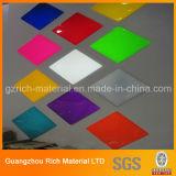 Colorear la hoja de acrílico plástica del plexiglás PMMA para los productos de la iluminación del LED