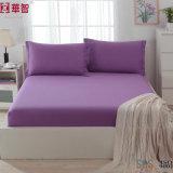 2つの枕箱が付いている100%年の綿の敷布