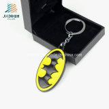 최신 판매 타원형 주물 사기질 페인트 배트맨 금속 관례 Keychain