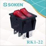照らされた二重ロッカースイッチを離れたのSoken Rk1-22 1X1X2n