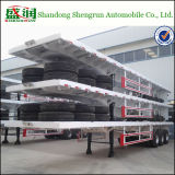 3 Flatbed Semi Aanhangwagen van de as 40FT voor Vervoer van de Container
