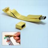 Memoria del palillo del USB del abrelatas de botella del metal con capacidad plena