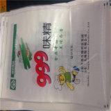 Sac d'alimentation tissé par pp d'engrais de riz de farine d'emballage de sac