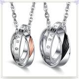 方法宝石類の方法吊り下げ式のステンレス鋼のネックレス(NK668)