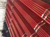 Tubos de acero redondos rojos pintados de Ss400 Q235 BS1387 ERW