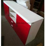 Module en bois UV lustré élevé du panneau TV de couleur rouge