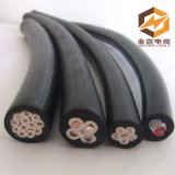 採鉱機械のための銅のコンダクターが付いている低電圧の適用範囲が広いゴム製ケーブル