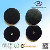 Fournisseur initial d'usine directe du bac/de préhenseur en caoutchouc d'aimant du disque 66mm d'enduit
