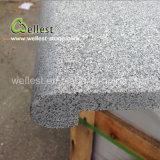 Il granito grigio naturale di vendita caldo ha fiammeggiato il raggruppamento Bullnose di superficie del bordo che fa fronte