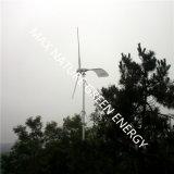 горизонтальная ветротурбина 2kw с вращая кабелем для пользы семьи