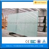 La glace décorative, acide a repéré le film permutable de fonction en verre et de forme plate