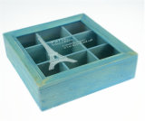 Caixa de armazenamento de madeira inacabado da caixa de madeira de caixa de madeira de preço de fábrica com o logotipo gravado