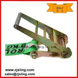 "En12195-2 4 "" 두 배 J-Hooks 래치드 결박 4 "" X 27 ' 녹색"