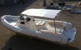 Barca gonfiabile della nervatura della baracca di pesca della vetroresina della nervatura di Liya 27ft Cina