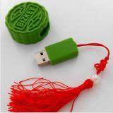 Mecanismo impulsor lindo del flash del USB de la dimensión de una variable de la torta de luna con propio grado de la insignia una viruta