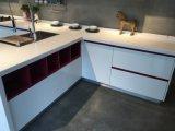 Alti armadi da cucina di lucentezza della mobilia domestica bianca pura Askc-100