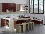 Mobília UV nova da cozinha da cor vermelha do projeto (zx-059)