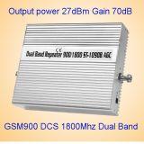 des mobiler Doppelband900/1800mhz G/M DCS-Verstärker der Energien-27dBm Signal-Verstärker