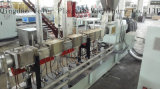 Gránulo gemelo paralelo del estirador de tornillo WPC que hace la máquina