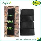 Onlylife 4 плантатора вися стены водоустойчивых сада Fely карманн Ecofriendly вертикальных