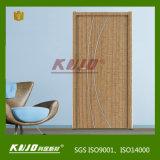 Puerta laminada dormitorio respetuoso del medio ambiente impermeable del cuarto de baño (KM-02)