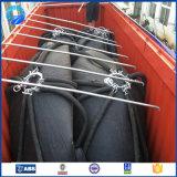 Defensa de goma marina inflable flotante con el encadenamiento y el neumático