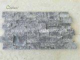 Черный тип естественный штабелированный камень известняка для внешней и нутряной стены