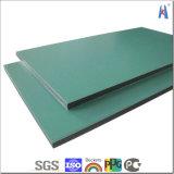 el panel de aluminio de Sanwich del panel compuesto de aluminio 5m m de plata del cepillo de 3m m 4m m