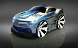 Mini carro elétrico do brinquedo do comando da voz da tração com controle esperto do relógio