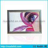 Rectángulo ligero delgado de interior del marco LED del broche de presión del aluminio de la visualización del cuadro