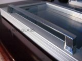 Portello di vetro del congelatore della contro parte superiore con il blocco per grafici di alluminio