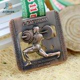 カスタムデザインの真鍮の金属のPowerliftingオリンピックメダルカウント