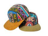 平らな縁が付いている5つのパネルのラクダの帽子