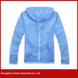Fábrica de atacado barato impermeável leve pele jaqueta (J179)