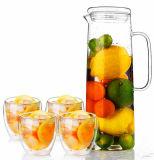 Personalizzare la brocca di vetro di vetro della brocca della spremuta della brocca di acqua del POT di fiore della bottiglia di acqua del POT della spremuta della caldaia di vetro