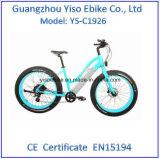 """26 """" 250W 무브러시 모터를 가진 4.0 타이어 전기 뚱뚱한 자전거"""
