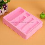Поднос косметик розовый Flocking пластичный
