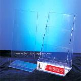 Vente en gros A5 Acrylic Brochure Holder avec Logo (BTR-H6007)