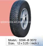 rotella di gomma semi pneumatica di pollice 10X3.3